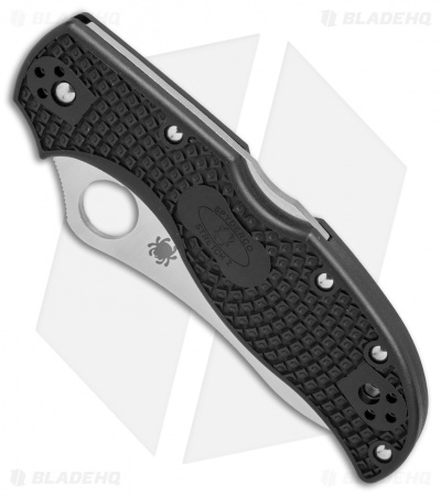 "Spyderco Stretch 2 Lightweight Knife Black FRN (3.4"" Satin) C90PBK2"