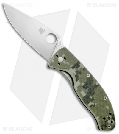 "Spyderco Tenacious Folding Knife Camo G-10 (3.375"" Satin) C122GPCMO Exclusive"