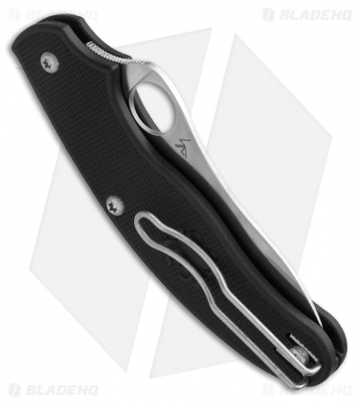 "Spyderco UK Penknife Lightweight FRN Folding Knife (2.94"" Satin) C94PBK3"