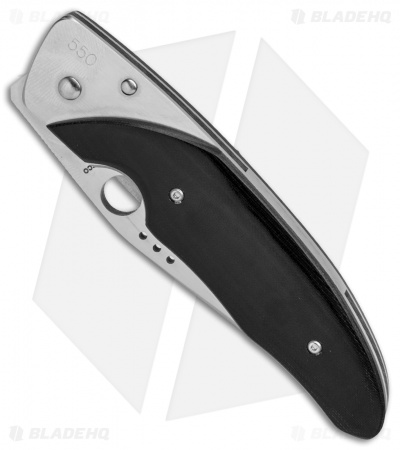 "Spyderco Viele Liner Lock Knife Black Micarta (3.4"" Satin Full Serr)"