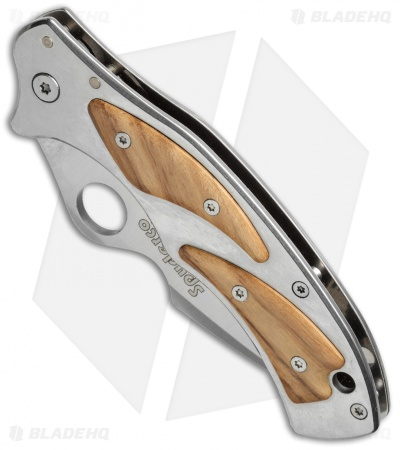 "Spyderco Volpe Frame Lock Knife Stainless Steel/Olivewood (3.4"" Satin) C99P"