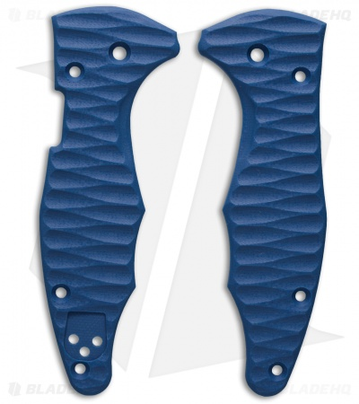 Spyderco Yojimbo 2 Replacement Scale by Allen Putman (Blue G-10)