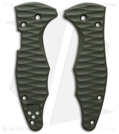 Spyderco Yojimbo 2 Replacement Scale by Allen Putman (OD Green G-10)