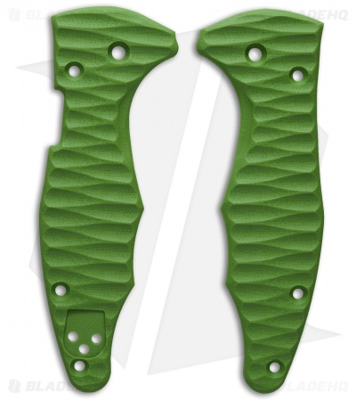 Spyderco Yojimbo 2 Replacement Scale by Allen Putman (Toxic Green G-10)