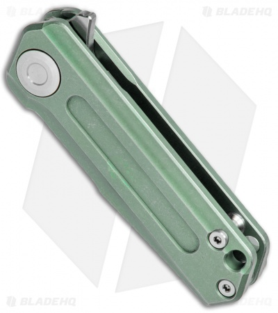 "Stedemon Vouking T03GRN Frame Lock Knife Green Titanium (1.8"" Satin)"