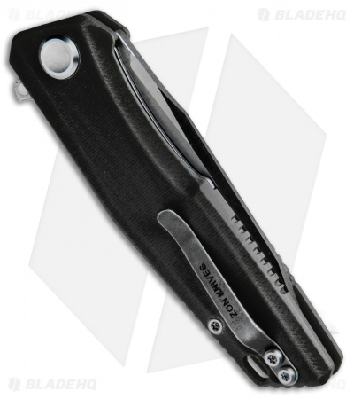 "Stedemon Knife Co. ZKC C02 Liner Lock Knife Black G-10 (3.75"" Satin)"