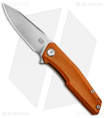 "Stedemon Knife Co. ZKC C02 Liner Lock Knife Orange G-10 (3.75"" Satin)"