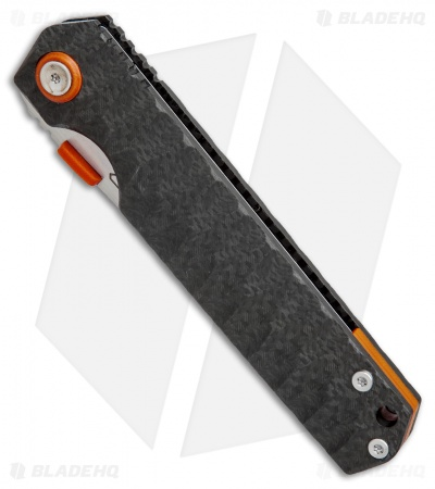 "Stedemon Shy IV Traditional Tanto Knife Concave Carbon Fiber (3.8"" Satin)"