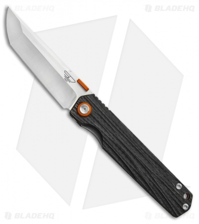 "Stedemon Shy IV Traditional Tanto Knife Water Flow Carbon Fiber (3.8"" Satin)"