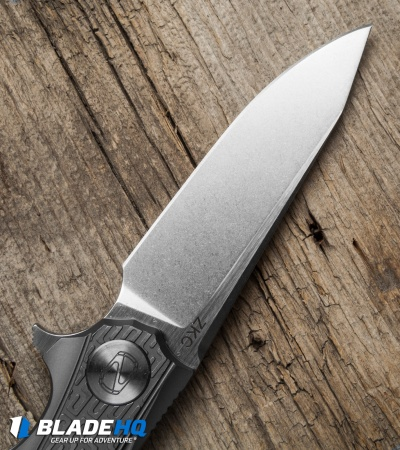 "Stedemon Knife Co. ZKC Flipper Knife Gray Milled (3.5"" Satin) B-01"