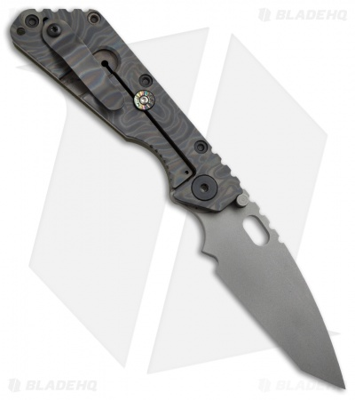 "Strider Knives Duane Dwyer Custom SMF Knife Green G-10 (3.9"" Bead Blast)"