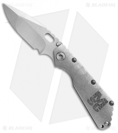 Mick Strider Custom SMF Knife Stonewash Graphic Titanium Handle MSC