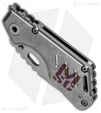 "Mick Strider Custom MSC Stub XL Tanto Knife Custom Anodized Ti (3.25"" Satin/SW)"