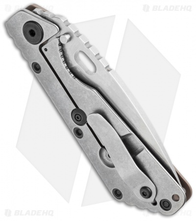 "Strider Knives SMF-CC Knife Coyote G-10 (3.9"" Stonewash)"