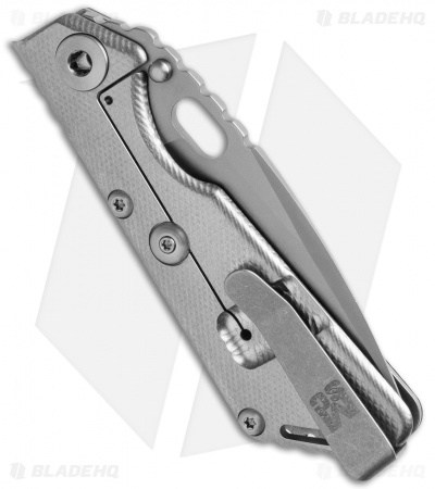 "Mick Strider MSC Performance Series SnG CC Knife Knurled CF/Ti (3.6"" PVD CrN)"