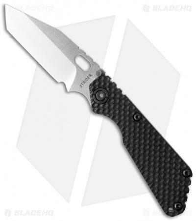 "Strider Knives SnG Tanto Knife Black GG Gunner Grip (3.5"" Stonewash)"