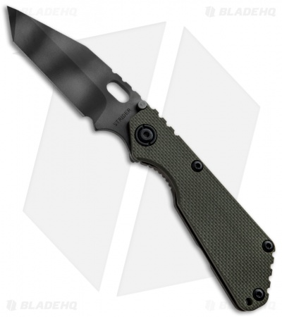 "Strider Knives SnG Tanto 3/4 OD Green Knife (3.5"" Tiger Stripe)"