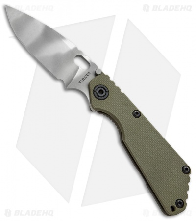 "Strider SNG Frame Lock Knife OD Green G-10 (3.5"" CTS40CP Tiger Stripe)"