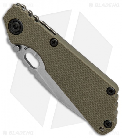 Strider Knives SnG Spear Point Knife OD Green G-10 (CTS-40CP / Stonewash)