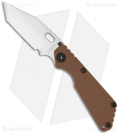 "Strider SnG Tanto Frame Lock Knife Coyote Brown G-10 (3.5"" Stonewash)"