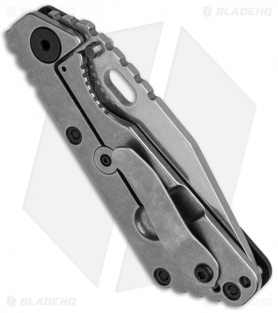 "Strider SnG Tanto Frame Lock Knife Black G-10 (3.5"" Stonewash)"