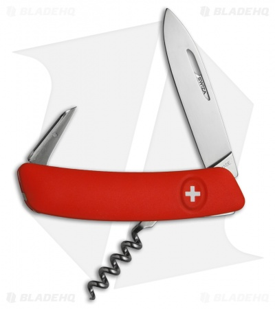 "Swiza D01 Swiss Pocket Knife Red (3"" Satin)"