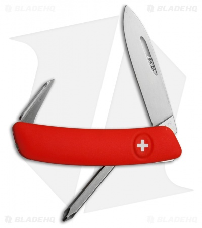 "Swiza D02 Swiss Pocket Knife Red (3"" Satin)"
