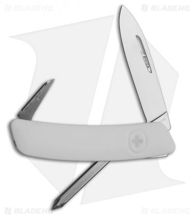 "Swiza D02 Swiss Pocket Knife White (3"" Satin)"