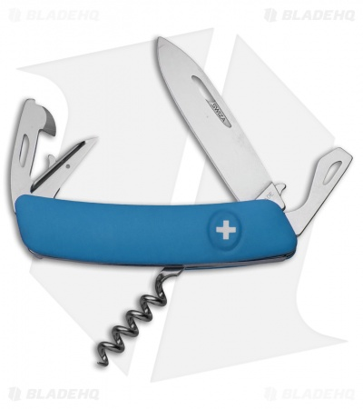 "Swiza D03 Swiss Pocket Knife Blue (3"" Satin)"