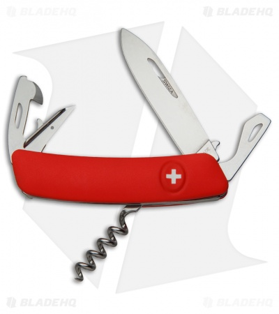 "Swiza D03 Swiss Pocket Knife Red (3"" Satin)"