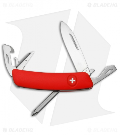 "Swiza D04 Swiss Pocket Knife Red (3"" Satin)"