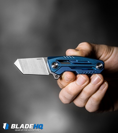 "Tactical Geek Variable X  Limited Edition Frame Lock Knife Blue PVD (1.6"" Satin)"