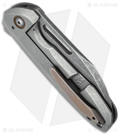 "TuffKnives Custom Switch Flipper Knife Titanium (3.5"" Acid SW)"