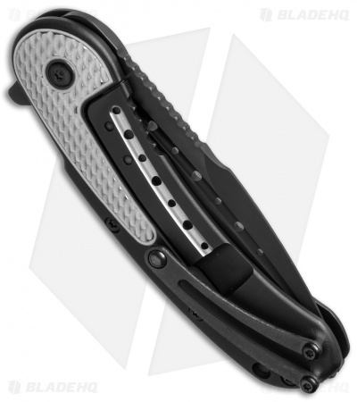 "Todd Begg Steelcraft Series Mini Bodega Knife Black/Silver Titanium (3"" Black)"