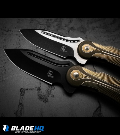 "Todd Begg Steelcraft Series Field Marshall Knife Gold/Bronze (4"" Black)"