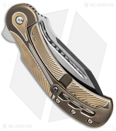 "Todd Begg Steelcraft Series Field Marshall Knife Gold/Bronze (4"" Two-Tone)"