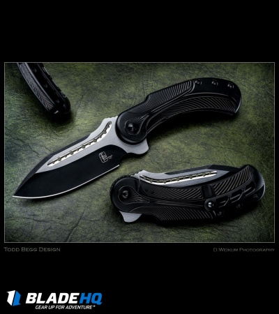 "Todd Begg Steelcraft Series Field Marshall Knife Black Ti (4"" Two-Tone)"