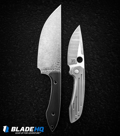 "TuffKnives Geoff Blauvelt Custom Catalyst V Frame Lock Knife (3.5"" Acidwash)"