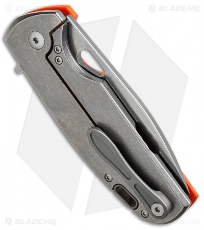"Viper Knives Vox Kyomi Flipper Knife Orange G-10 (3.1"" Stonewash) V5934GO"