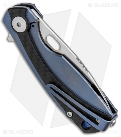 "Viper Knives Voxnaes Lille Frame Lock Knife Blue/CF (2.5"" Satin) V5962BLFC"