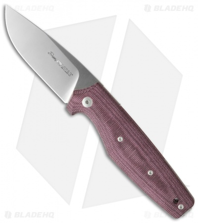 "Viper Knives DAN 1 Drop Point Knife Burgundy Micarta (2.9"" Satin) V5928CBR"