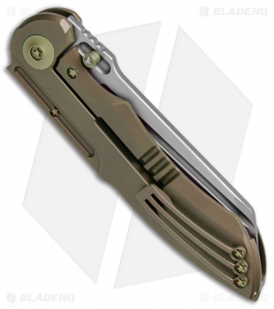 "WE Knife Co. 620J Frame Lock Knife  Bronze Titanium (4"" Stonewash)"