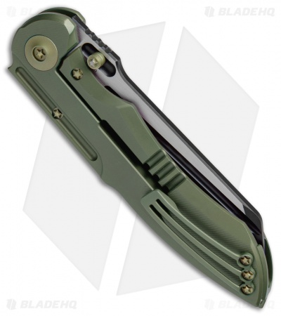 "WE Knife Co. 620E Frame Lock Knife  Green Titanium (4"" Black)"