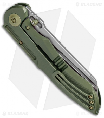 "WE Knife Co. 620F Frame Lock Knife Green Titanium (4"" Stonewash)"