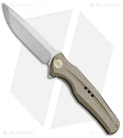 "WE Knife Co. 601R Frame Lock Knife Bronze Titanium (3.75"" Bead Blast)"