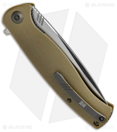 "WE Knife Co. 703D Liner Lock Knife Tan G-10 (3.75"" Satin)"