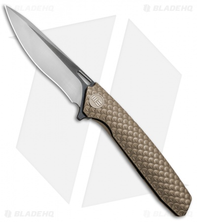 "WE Knife Co. 604K Frame Lock Knife Bronze Titanium (3.8"" Black, Satin)"