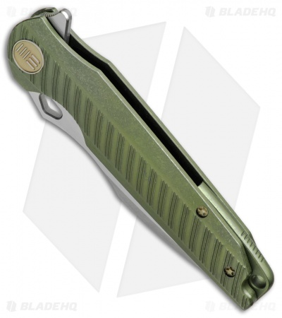 "WE Knife Co. 612F Frame Lock Knife Green Titanium (4"" SW/Satin)"