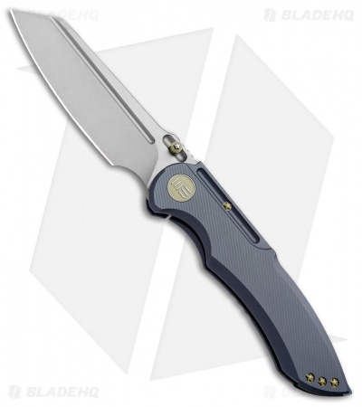 "WE Knife Co. 620D Frame Lock Knife  Blue Titanium (4"" Stonewash)"