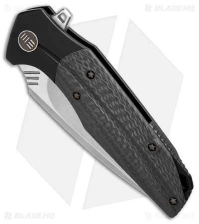 "WE Knife Co. Nitida Frame Lock Knife Black Ti/CF (3.5"" Stonewash) 707F"